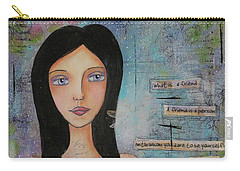 What Is A Friend # 2 Carry-all Pouch by Nicole Nadeau