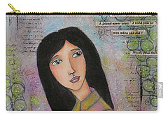 What Is A Friend ? Carry-all Pouch by Nicole Nadeau