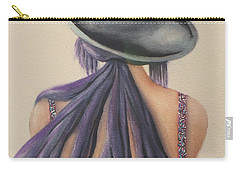 Carry-all Pouch featuring the painting What Lies Ahead Series After The Loss Of My Husband  by Chrisann Ellis