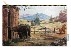 Carry-all Pouch featuring the painting What Now by Lee Piper