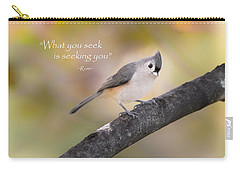 What You Seek Carry-all Pouch by Bill Wakeley