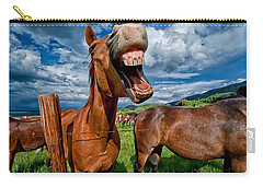 What's So Funny Carry-all Pouch by Cat Connor
