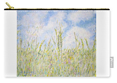 Wheat Field And Wildflowers Carry-all Pouch