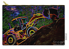 Wheel Loader Moving Dirt - Neon Carry-all Pouch