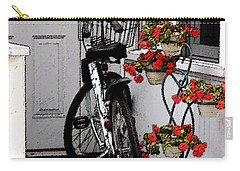 Wheels And Flowers Carry-all Pouch