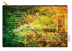 Carry-all Pouch featuring the mixed media When Past And Present Intersect #1 by Sandy MacGowan