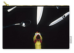 When Rubber Chickens Juggle Carry-all Pouch by Bob Christopher
