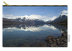 When The Sun Shines On Glacier National Park Carry-all Pouch