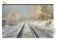 Carry-all Pouch featuring the painting Where Is The Train by Dragica  Micki Fortuna