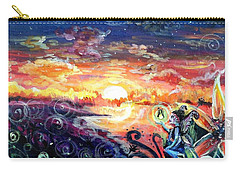 Carry-all Pouch featuring the painting Where The Fairies Play by Shana Rowe Jackson