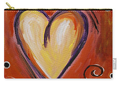 Whimsical  Abstract Art - With All My Heart Carry-all Pouch by Karyn Robinson