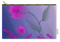 Carry-all Pouch featuring the digital art Whimsical Floral by Mary Bedy