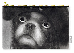 Whimsical Funny French Bulldog Pirate  Carry-all Pouch by Svetlana Novikova