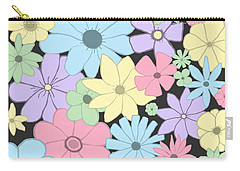 Whimsical Pastel Flowers Carry-all Pouch