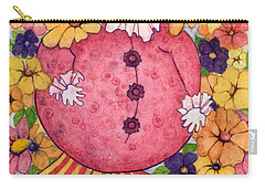Carry-all Pouch featuring the painting Whimsy On Parade  by Barbara Jewell