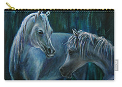 Carry-all Pouch featuring the painting Whispering... by Xueling Zou