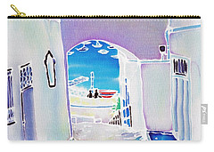 White And Blue 1 Carry-all Pouch
