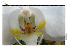 White And Yellow Orchid Carry-all Pouch