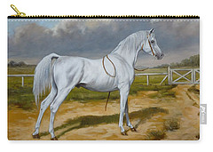 White Arabian Stallion Carry-all Pouch