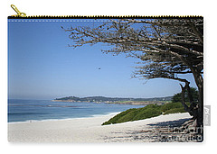 White Beach At Carmel Carry-all Pouch by Christiane Schulze Art And Photography