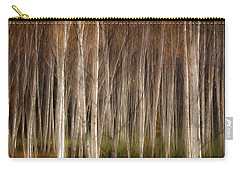 White Birch Abstract Carry-all Pouch by John Vose