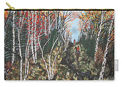 Carry-all Pouch featuring the painting White Birch Trail Ride by Jeffrey Koss
