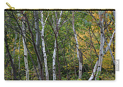 Carry-all Pouch featuring the photograph White Birches In The Woods by Denyse Duhaime