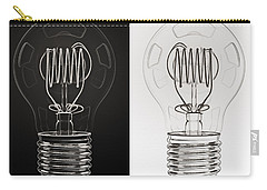 White Bulb Black Bulb Carry-all Pouch