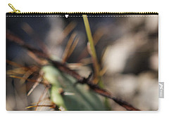 Carry-all Pouch featuring the photograph White Cactus Flower by Erika Weber