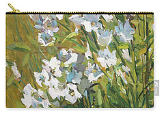 White Campanulas Carry-all Pouch
