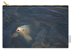 White Carp In The Lake Carry-all Pouch