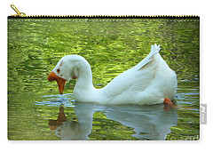 White Chinese Goose Curtsy  Carry-all Pouch