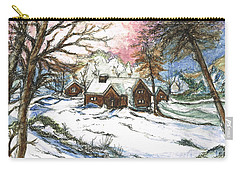 White Christmas Carry-all Pouch by Teresa White