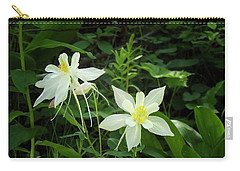 White Columbines Carry-all Pouch
