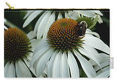 Carry-all Pouch featuring the photograph White Coneflowers  by James C Thomas