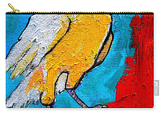 White Crow Carry-all Pouch by Ana Maria Edulescu