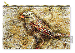 White Crowned Sparrow Carry-all Pouch