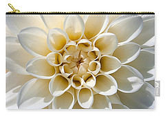 Carry-all Pouch featuring the photograph White Dahlia by Carsten Reisinger