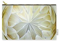 White Dahlia Orb Carry-all Pouch