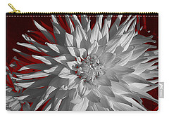 White Dahlia Carry-all Pouch by Richard Farrington