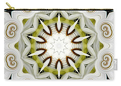 White Daisies Kaleidoscope Carry-all Pouch by Rose Santuci-Sofranko
