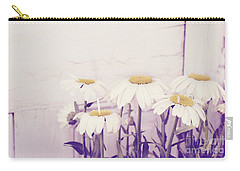 White Daisy Mums Carry-all Pouch
