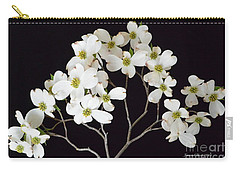 Carry-all Pouch featuring the photograph White Dogwood Branch by Jeannie Rhode