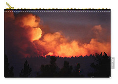 Carry-all Pouch featuring the photograph White Draw Fire First Night by Bill Gabbert