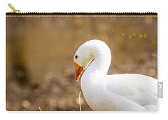 Carry-all Pouch featuring the photograph White Duck by Eleanor Abramson