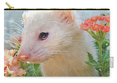 White Ferret Carry-all Pouch