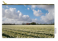 White Field Carry-all Pouch