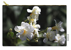 Carry-all Pouch featuring the photograph White Flower - Early Spring Time by Ramabhadran Thirupattur