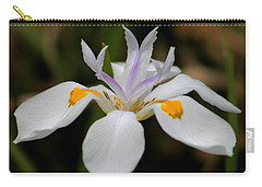 White Flower Carry-all Pouch by Pamela Walton