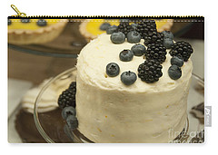 White Frosted Cake With Berries Carry-all Pouch by Juli Scalzi
